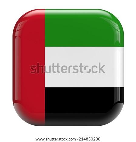 United Arab Emirates UAE flag icon. - stock photo