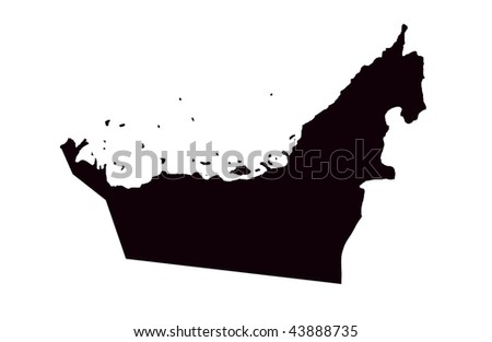 United Arab Emirates - white background