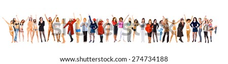 United Colleagues Big Group  - stock photo