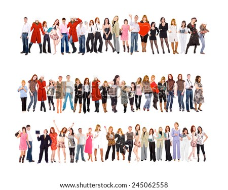 United Colleagues Isolated over White  - stock photo