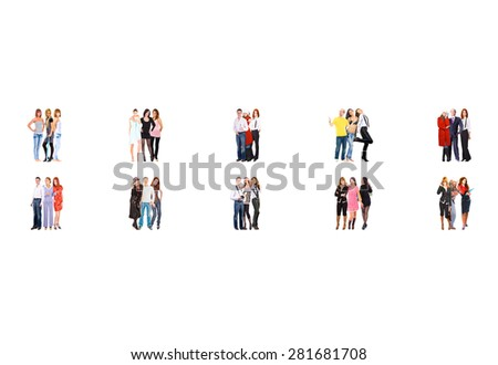 United Company Corporate Teamwork  - stock photo