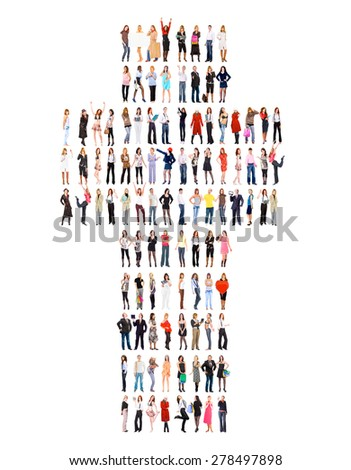 United Company Standing Together  - stock photo