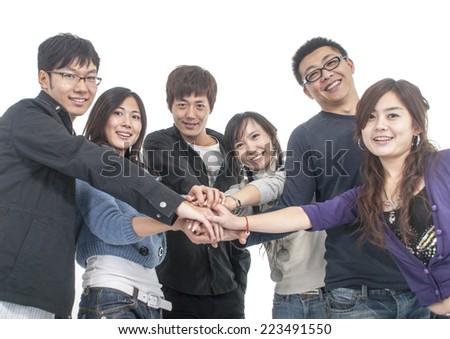 united group - stock photo