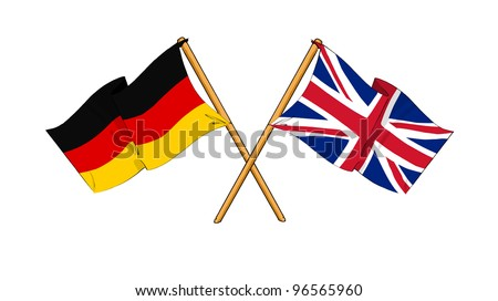 United Kingdom and Germany alliance and friendship - stock photo