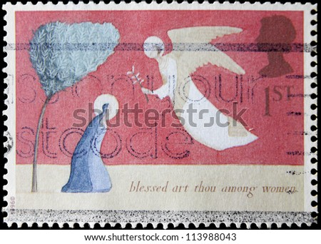 UNITED KINGDOM - CIRCA 1996: A post stamp printed in the Great Britain devoted Christmas , circa 1996