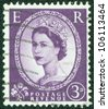 UNITED KINGDOM - CIRCA 1952: A postage stamp printed in Great Britain showing a portrait of queen Elizabeth II, circa 1952. - stock photo