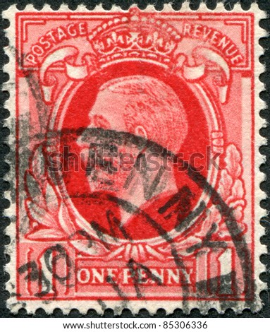 UNITED KINGDOM - CIRCA 1934: A stamp printed in England, shows George V of the United Kingdom, circa 1934