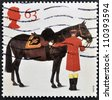 UNITED KINGDOM - CIRCA 1997: A stamp printed in Great Britain shows Duke of Edinburgh's Horse and Groom, circa 1997 - stock photo
