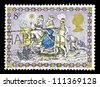 """UNITED KINGDOM - CIRCA 1979: A stamp printed in Great Britain, shows Three Kings Following Star, without inscription, from the series """"Christmas"""", circa 1979 - stock photo"""