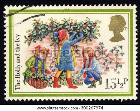 UNITED KINGDOM - CIRCA 1983: A stamp printed in the United Kingdom shows The Holy and the Ivi, circa 1983 - stock photo