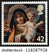 UNITED KINGDOM - CIRCA 2005: A stamp printed in the United Kingdom shows The Virgin mary with Infant Christ, circa 2005 - stock photo