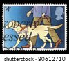 UNITED KINGDOM - CIRCA 1981: A stamp printed in United Kingdom shows The Year of the Disabled, Showing Guide Dog for the Blind, circa 1981 - stock photo