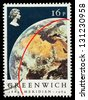 UNITED KINGDOM - CIRCA 1984: A used postage stamp printed in Britain celebrating the Centenary of the Greenwich Meridian, circa 1984 - stock photo