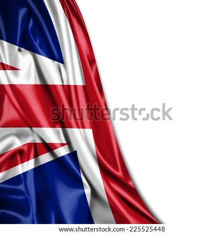 United Kingdom flag and white background - stock photo
