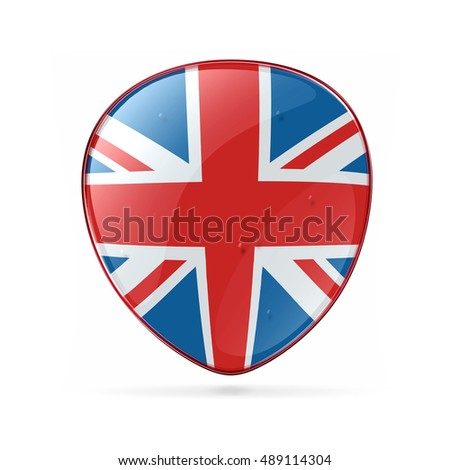 United Kingdom Flag Icon, isolated on white background
