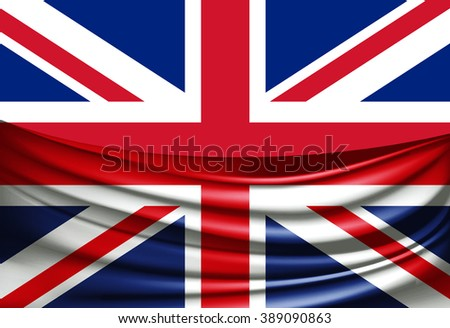 United Kingdom  flag of silk