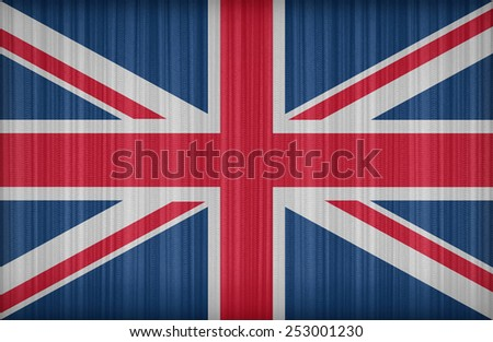 United Kingdom flag pattern on the fabric curtain,vintage style