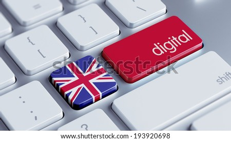 United Kingdom High Resolution Digital Concept - stock photo