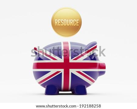 United Kingdom High Resolution Resource Concept - stock photo