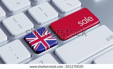 United Kingdom High Resolution Sale Concept - stock photo