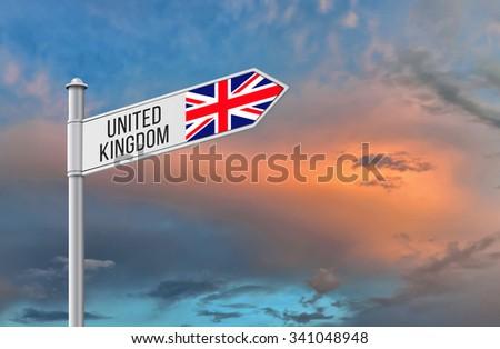 United Kingdom road sign. - stock photo