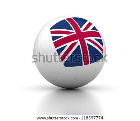 United Kingdom Volleyball Team (isolated with clipping path) - stock photo