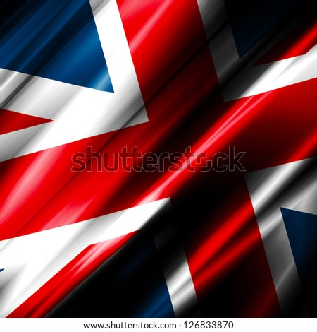 United Kingdom Waving Flag - stock photo