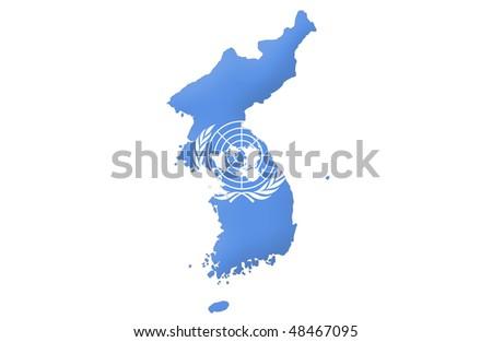 United Korea - stock photo