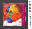 UNITED NATIONS - CIRCA 2009: a postage stamp printed in United Nations showing an image of Mahatma Gandhi, circa 2009. - stock photo