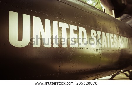 united states army helicopter - stock photo