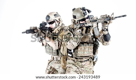 United States Army Rangers Assault Rifles Stock Photo Royalty Free