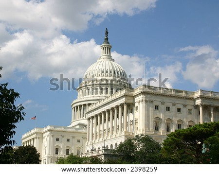 United States Capital on nice summer day