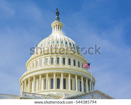 United States Capitol Building east facade - Washington DC United States