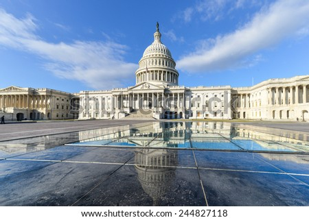 United States Capitol Building East facade - Washington DC, USA - stock photo