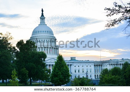 United States Capitol Building in Washington DC USA - stock photo