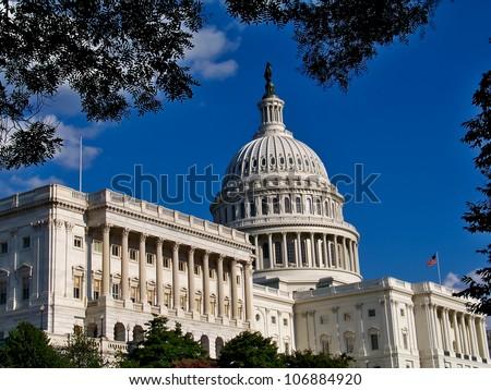 United States Capitol Building, Washington, D.C.  Taken August, 2008. - stock photo