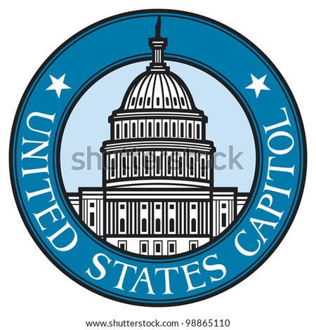 United States Capitol (Capitol hill, U. S. Capitol dome) - stock photo