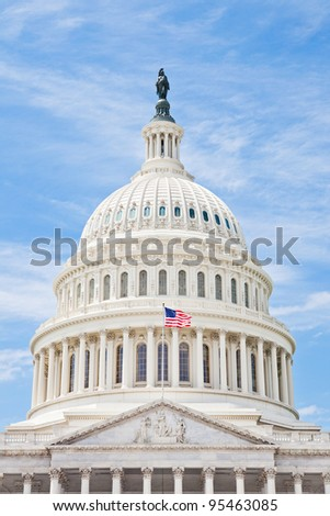 United States Capitol dome in Washington DC