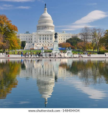 United States Capitol - Washington DC - stock photo