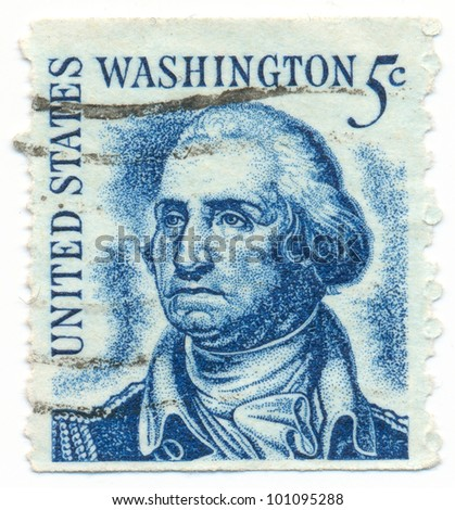UNITED STATES - CIRCA 1966: A postage stamp of the printed in the United States, Portrait of President George Washington, circa 1966