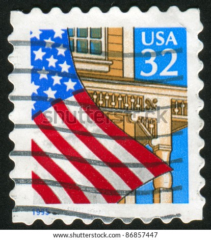 UNITED STATES - CIRCA 1993: A stamp printed by United states, shows flag, circa 1993