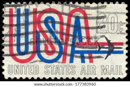 UNITED STATES CIRCA 1984 Stamp Printed Stock Photo Royalty Free