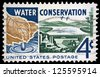 """UNITED STATES - CIRCA 1960: A stamp printed in USA shows Water, from Watershed to Consumer, dedicated to Water conservation, with inscription and name of series """"Water conservation"""", circa 1960 - stock photo"""