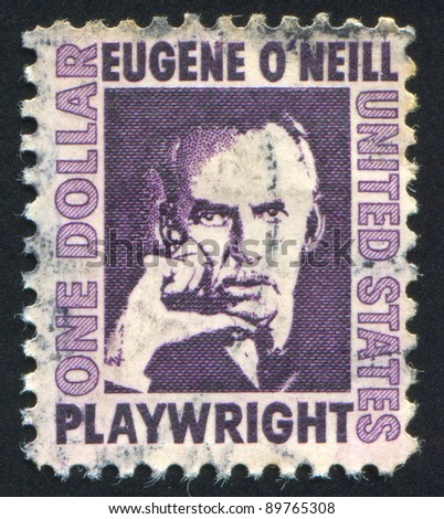 UNITED STATES - CIRCA 1965: stamp printed by United states, shows Eugene O Neill, circa 1965