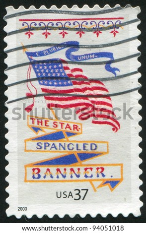 UNITED STATES - CIRCA 2003: stamp printed by United states, shows flag, circa 2003