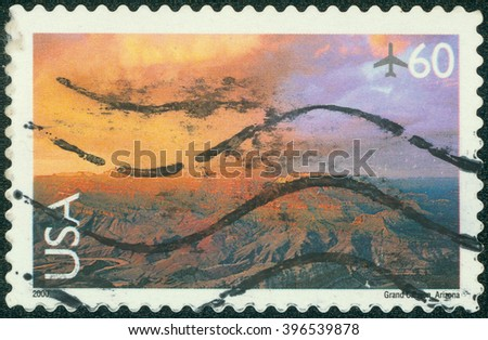 UNITED STATES - CIRCA 2000: stamp printed by United States, shows Grand canyon, circa 2000 - stock photo