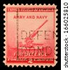 UNITED STATES - CIRCA 1940: stamp printed by United states, shows 90-millimeter Antiaircraft Gun, circa 1940. - stock photo