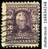 UNITED STATES - CIRCA 1902: Vintage US Postage Stamp celebrating Andrew Jackson, the seventh President of the United States of America, circa 1902. - stock