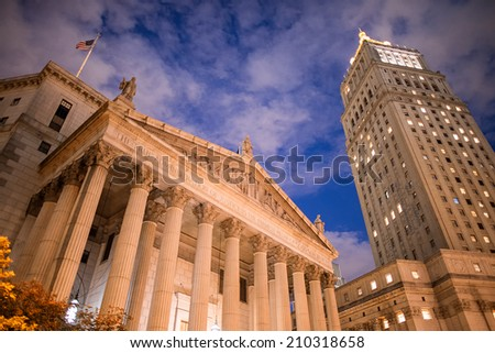 United States District Court building located in New York City. - stock photo