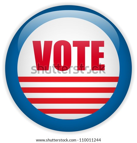 United States Election Vote Button. - stock photo
